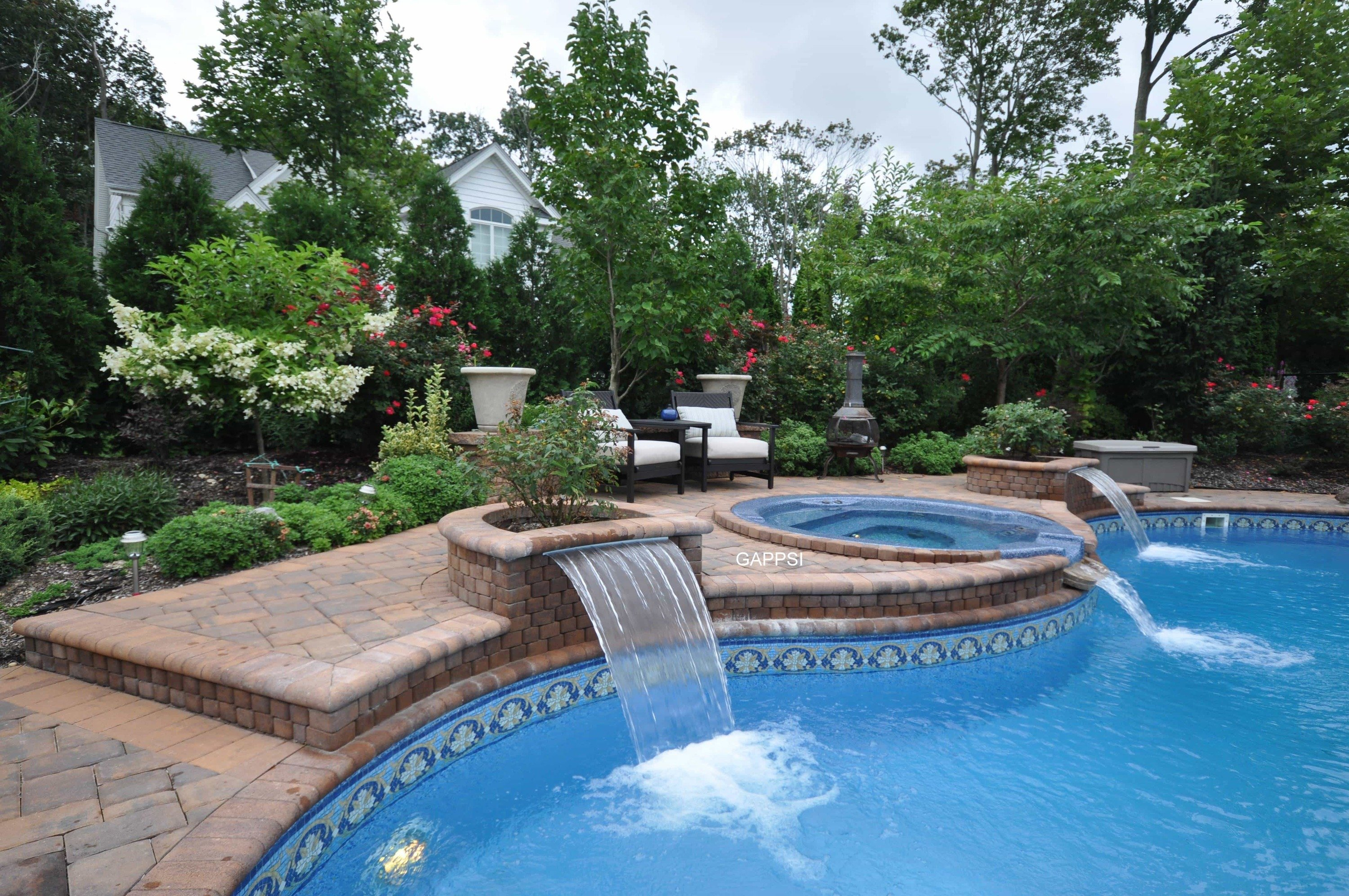 Long island water features pool landscaping waterfalls for Water pool design