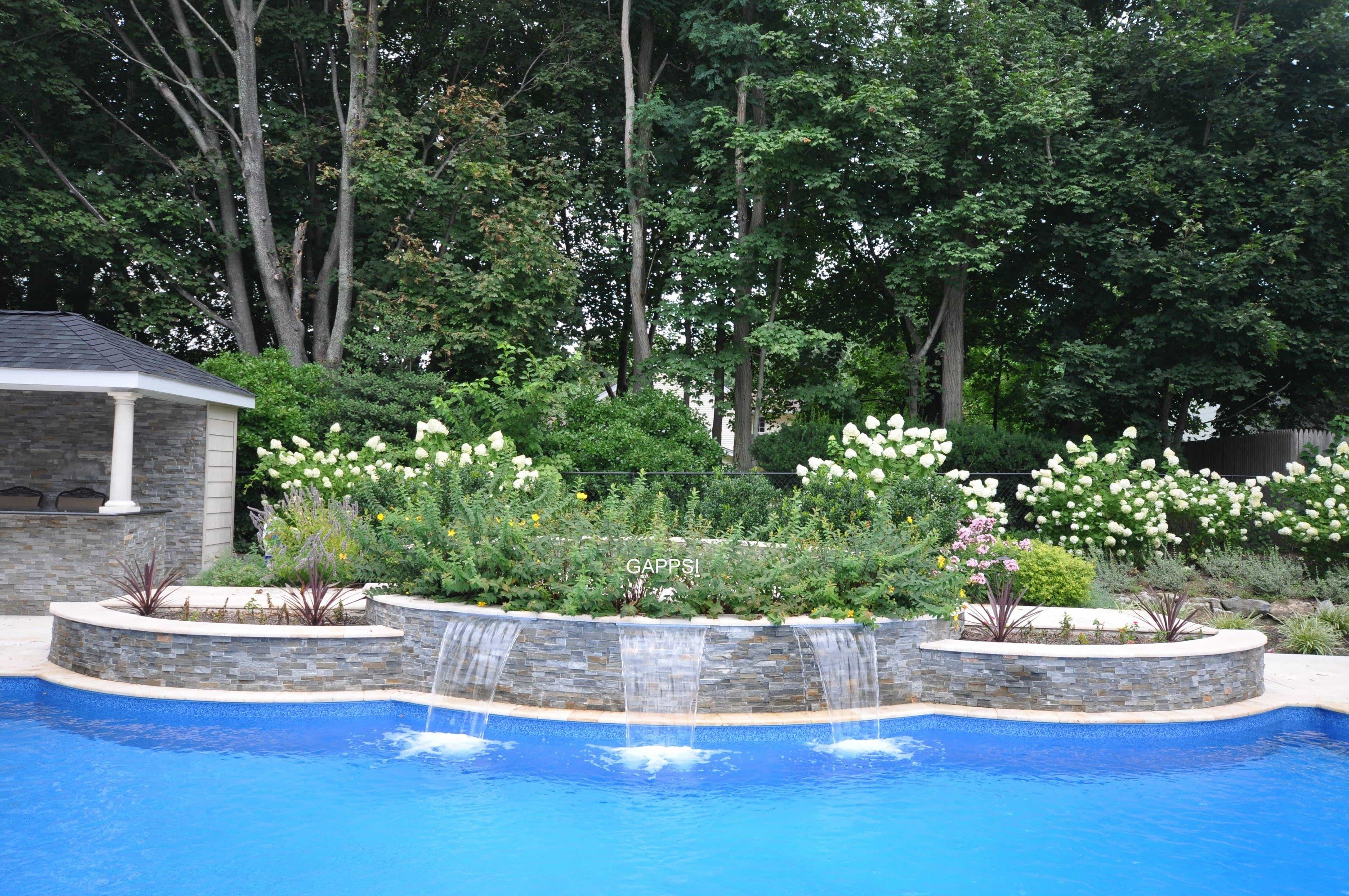 Outdoor water features pool landscaping gappsi for Pool design hours