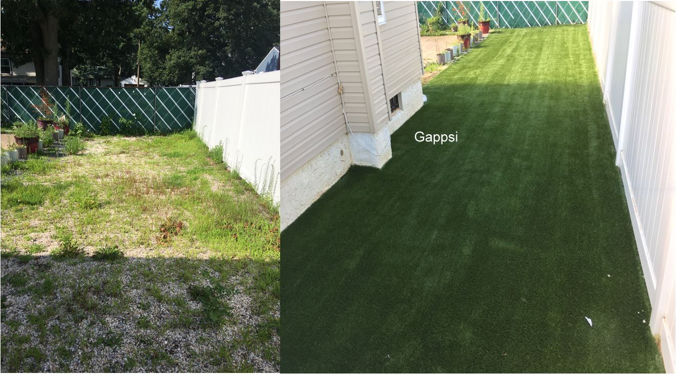 dog run before and after built Nassau county NY