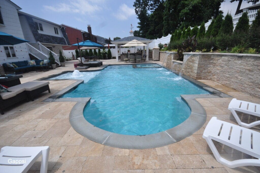 Backyard Design & Installation with Gunite Pool Kings Park NY 11754