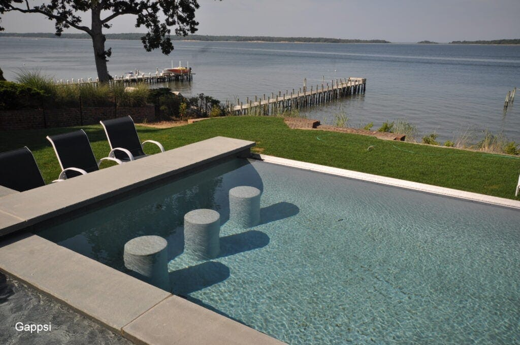 cement stools gunite built Sag Harbor NY 11963